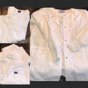White scrub tops/pants/jacket